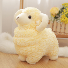Cute 1pc 25cm Baby Soft Toy Stuffed Animal Sheep Mutton Goat High Quality Good Design Best Gift for Children Friend Birthday