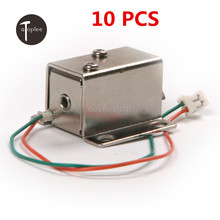 High Quality 10 PCS DC12V/350MA Ultra-Compact Locks Free Shipping Cabinet Door Electric Lock Assembly Solenoid