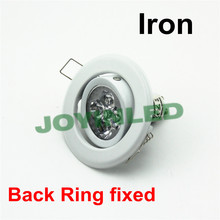 Free shipping 90-265V 3W 4W led spot lamp gu10 fitting led downlight white for home(China)