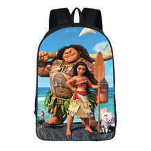 Custom Made Sea adventure Maui Backpack Shoulderbag Pencil Bag Games Train UT FNAF TV Show Animal Boys Girls School Bags(China)