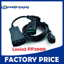 Lexia3 PP2000 Super lexia 3 citroen p eugeot pp2000 diagnostic tool with DHL free shipping WITH Factory Price