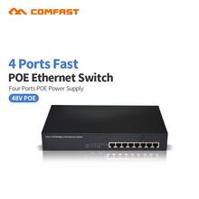COMFAST 4 Port Poe Switch 4 Ports IEEE802.3af 4 PoE Switch Power Over Ethernet Endspan for IP Cameras AP CF-S100P4(China)