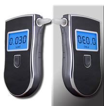 Patent Professional Digital Breath Alcohol Tester with 3 digital LCD display Blue Backlight 5pcs Mouthpieces