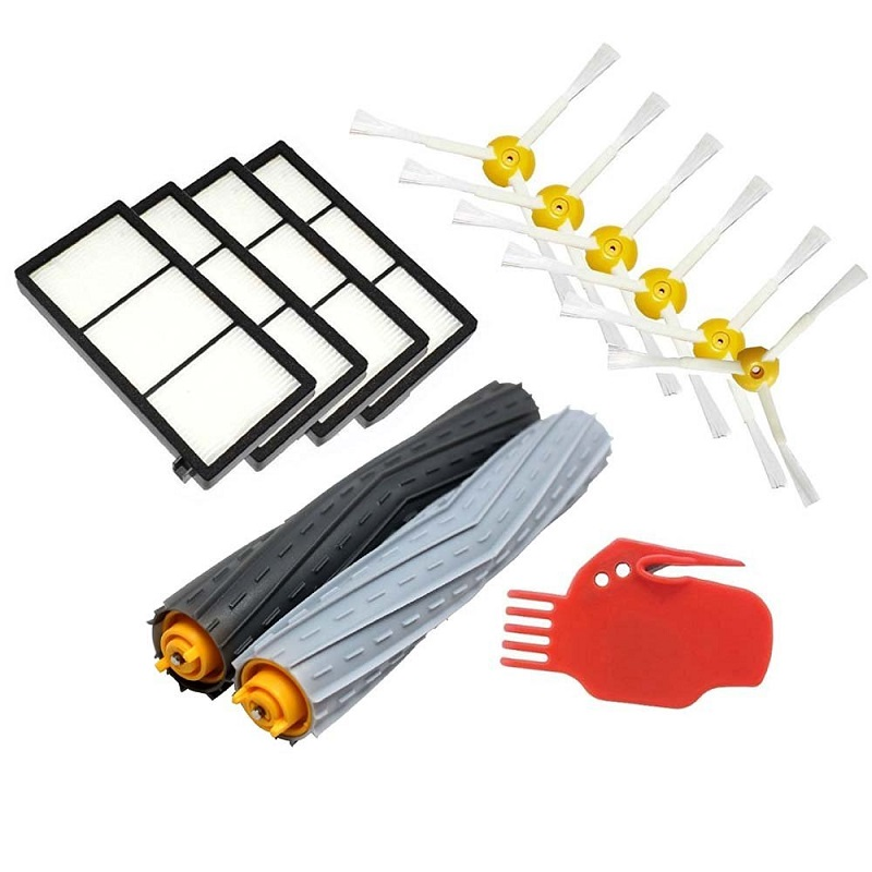 Seed Tangle-Free Debris Extractor Kit &amp; Hepa Filter &amp; Side Brush Replacement For iRobot Roomba 800 900 series 870 880 980<br><br>Aliexpress