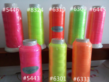 KingClouds Brand New 4500m x 1 cone  Polyester neon bright color embroidery thread   fluorescent thread  with free shipping