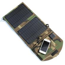 10W Portable Solar Panel Charger Solar Cell Charger For Mobile Phones/Power Bank Dual USB Output Camouflage Green High Quality