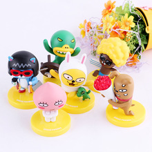 Popular 6Pcs Korea Cartoon Linese Talk Toys Action Figure Model Doll Collection cocoa Friends Party Supplies Birthday Kid Gift(China)