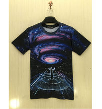2015 Newest Fashion Mens/Womens Creative galaxy space T-Shirts MC Dora 3D Print O-Neck Casual T-Shirts Short Sleeved T-shirts