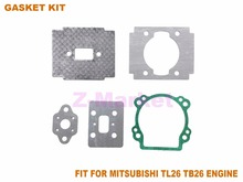 3Sets Gasket for MITSUBISHI TL26 TB26 25.4CC Brush Cutter.Grass Trimmer.Lawn Mower.Gasoline Engine Garden Tools Spare Parts