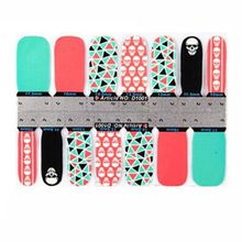 5PCS Fashion Women Skull Snow Full Self Nail Wraps Stickers Adhesive Polish Foils Manicure Decoration Art Decals(China)