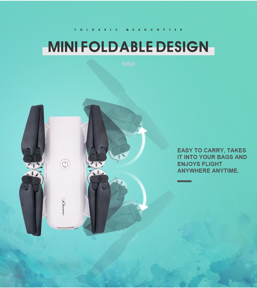 3.New 2.4Ghz 4ch foldable FPV rc drone with 2MP wide angle wifi camera