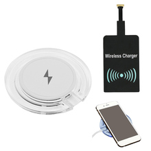 Besegad Qi Wireless Charger Pad w/ Micro USB Receiver for Samsung Galaxy S8 Plus S7 S6 Edge Note 5 Google Nexus 6 7 Lumia 1020(China)