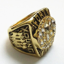 US size 8 to 14! Factory price 1994 San Francisco 49ers super bowl world championship ring replica solid ring drop shipping(China)