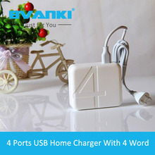 [Bvanki] 500Pcs/Lot Bulk Buying Universal EU ,US ,UK Plus Micro USB Wall Home Charger 4Ports AC Power Adaptor For SamSung Galaxy