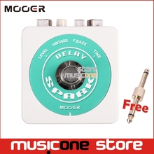 Mooer SPARK DELAY Effect guitar pedal Classic analog delay Warm and smooth Spark Series Pedal light Pedal Metal Case +Connector(China)