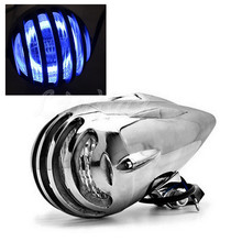 Chrome LED Bullet Headlight With Blue Angel Eyes Light For Honda Shadow VT400 600 750 MAGNA 250 Steed VLX Chopper Motorcycle