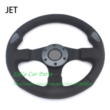320mm Universal JET Steering Wheel Flat Model Leather Racing Car Steering Wheel