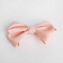 24pcs/lot Big Size Bows Hair Clips Peach Pink Hairpins Kids Handmade Girls Top Quality Ribbon Cotton Barrettes Bowknot Hairpins(China)