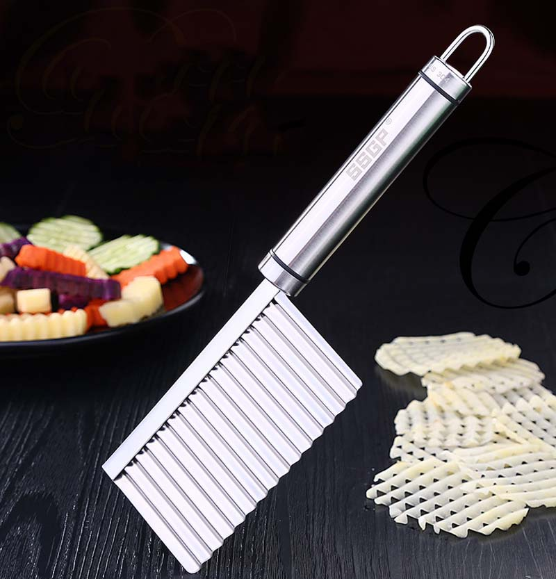 BalleenShiny Potato Slicer Cutter Knife Kitchen Gadgets Accessories Cooking Tools Stainless Steel Fruit Vegetable Chip Cut tool 5
