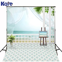 300Cm*200Cm(About 10Ft*6.5Ft) Slate Floor Tiles Sea Curtainsbackdrop Photography Mini Backgrounds Studio Backgrounds Lk -1616(China)