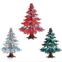 Colorful DIY Cartoon Wooden Christmas Tree Decoration Xmas Gift Ornament Table Desk Decoration Home Party Wedding Gift 3(China)