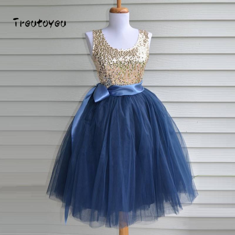 Skirts Womens 7 Layers Knee Length Tulle Skirt American Apparel Tutu Skirts Ball Gown Party Petticoat