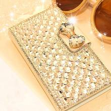 Luxury Bling Bowknot Crystal Rhinestone Diamond Wallet Flip Case Cover For iPhone 5 5S SE 6 6s 6 plus 6s plus Phone Accessories(China)