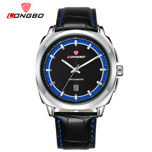 2017 hot brand LongBo Fashion Casual Genuine Leather Watch Men's Quartz Sport Military 3 degrees of life waterproof Herrenuhr(China)