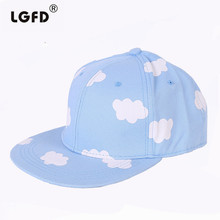 2016 LGFD416 girls women kids SUMMER CLOUD pink blue SNAPBACK COTTON baseball caps HIP HOP hat(China)