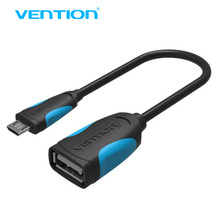 Vention Micro USB OTG Cable Adapter for HTC LG Sony Xiaomi Nokia N810 Nexus 7 Android mobile phone Tablet(China)