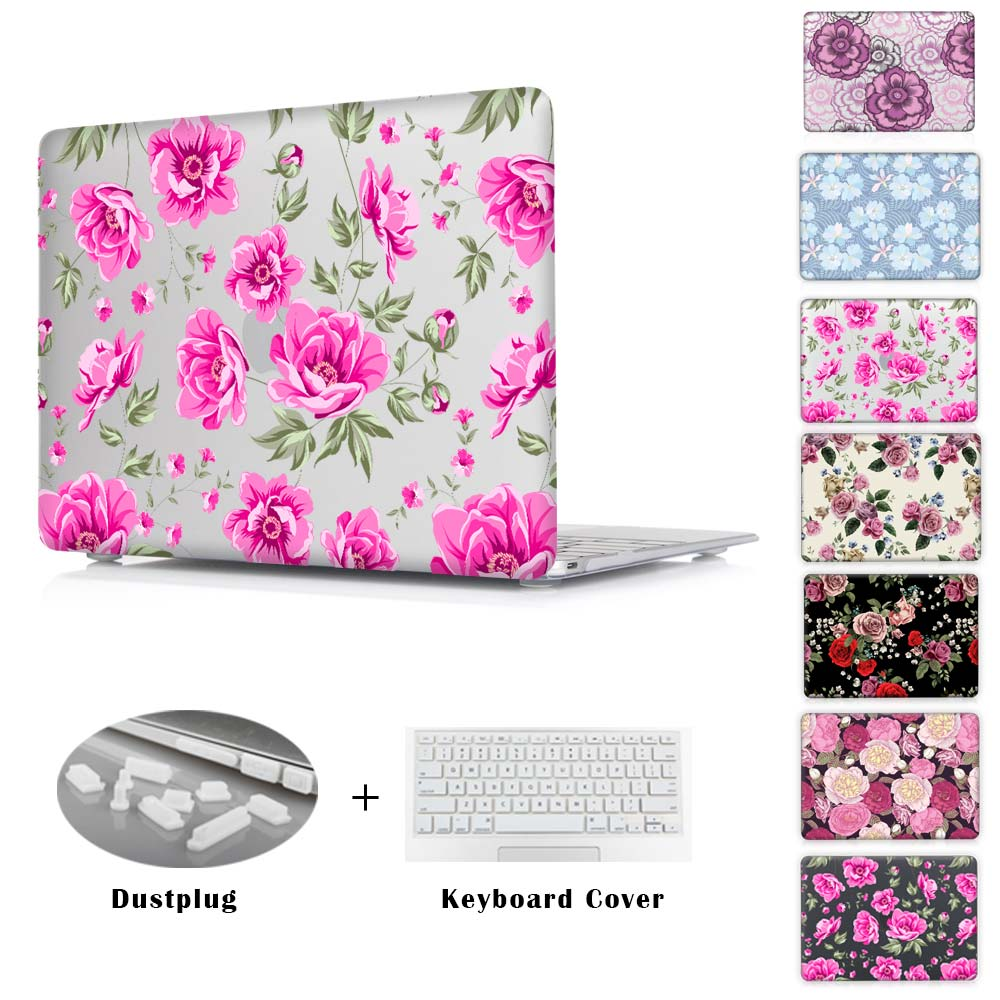 For Lady Gifts Elegant White Peonies &amp; Rose Series For Mac Book Cases Air 11 13 Pro 13 15 Retina 12 13 15 Hard Sleeve Bags<br><br>Aliexpress