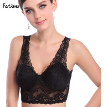 Buy Fatimu Sexy Push Bras Women Underwire 3/4 Cup Black Sexy Lace Bra Underwear Gather Sexy Lingerie Brassiere Plus Size