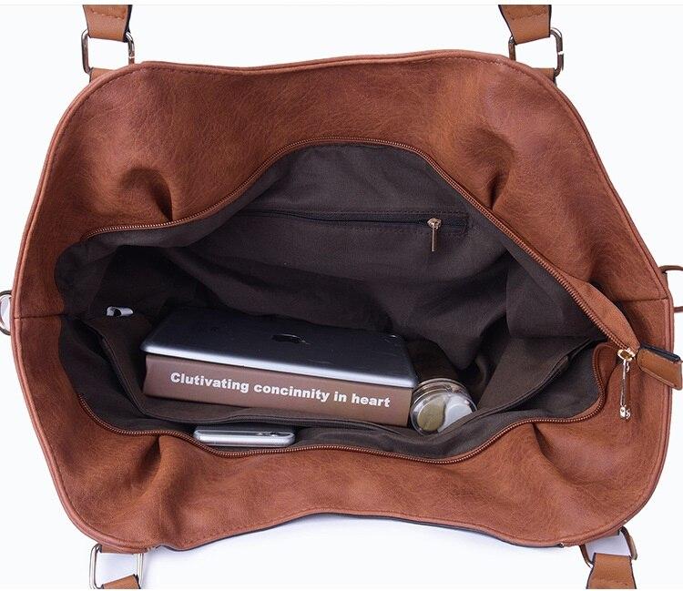 NIGEDU Leather Casual Tassel Handbag Large Famous Brands Designers Pu Leather Handbags Women Big Tote Bags Female Messenger Bags Bolsos Blue (12)
