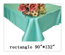 "Free shipping rectangle tablecloth size 90""*132"" color Tiffany blue for wedding decoration/wholesale decorating fabric"