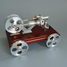 QX-XC-01 Stirling Engine Model Car with 4 steel wheels Mini Car Toy small scientific experiments