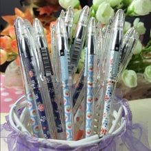 Hot sale student stationery retro Garden Fruit & Flowers series 0.5mm Black gel pen.student tool school office use office school