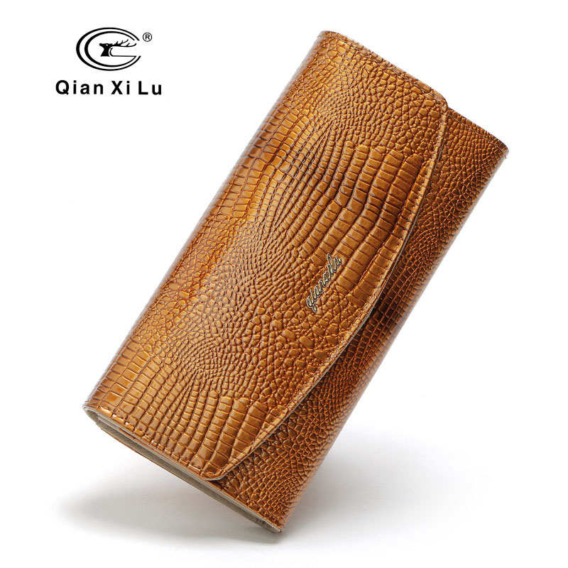 Qianxilu New Brand Designer 3Fold Women Purses Leather Fashion Wallets Clutch Lady Party Wallet Female Card Holder High Quality<br>