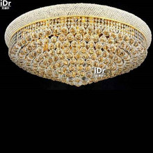 gold Ceiling Lights modern hotel lobby corridor lights bedroom lamp crystal lamps flush mounted D90cm x H36cm(China)