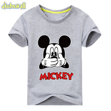 2017 Hot Sale Children Clothes Boy Girl Mickey Tshirt Baby Summer T Shirt 10 Colors Short Sleeve Tee Tops For Kids 24M-6T ACY037