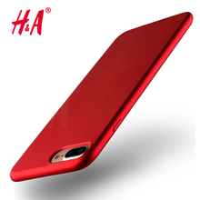 Luxury Soft TPU Red Cover for iPhone 7 7 Plus Case Plating Mobile Phone TPU Soft Case For iphone 6 6s plus Cover Red phone(China)