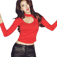 Buy Autumn Crop Top Women Clothing Long Sleeve Strench Sexy Tops Women Shirt Zipper Irregular Korean Fashion Crop Tops for $15.37 in AliExpress store