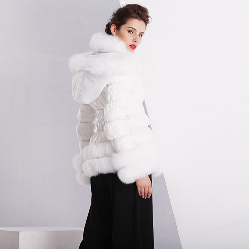 winter thick duck feather ladyies down coat