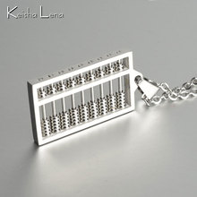 Keisha Lena New HOT SALE Fashion Jewelry abacus chain Women's / Men's Stainless steel Pendants Necklaces for Women / Men