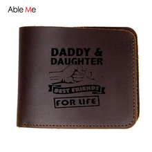 Men leather wallet high quality 2 fold wallets men original brand custom name short vintage style money purse male(China)