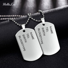 Brand Link Chain Man necklace Military Army Dog Tags Men's Stainless Steel Pendant Necklaces Jewelry Gift Choker Wholesale