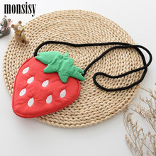 Monsisy Lolita Strawberry Baby Handbag  For Girl Shoulder Bag Cotton Kid Coin Purse Children Wallet Toddler Girl Messenger Bag