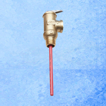 "101.5PSI 0.7Mpa BSP G1/2"" Temperature and Pressure Safety Valve  TP Valve for Solar Water Heaters System 99 centigrade"
