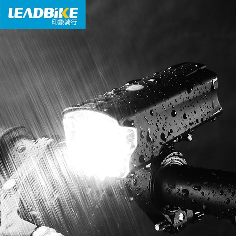 LEADBIKE USB Rechargeable Anti-glare Front Handlebar Bike Light Bicycle Led Lights IPX-IV Waterproof Headlight Bike Accessories<br><br>Aliexpress