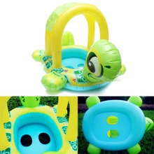 High Quality Baby Kids Tortoise Shape Inflatable Pool Float Seat Boat Water Swim Ring Funny Toys