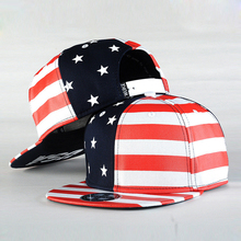 Fashion Street Dance Cool Hip Hop Caps USA Flag Snapback Snap Back Baseball Caps Hats American Flag(China)
